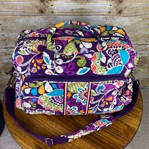 VERA BRADLEY PLUM CRAZY RETIRED WEEKENDER BAG